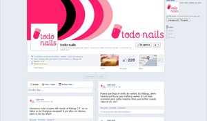 Facebook Fan Page de todo-nails