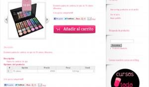 Detalle de producto en la web de todo-nails