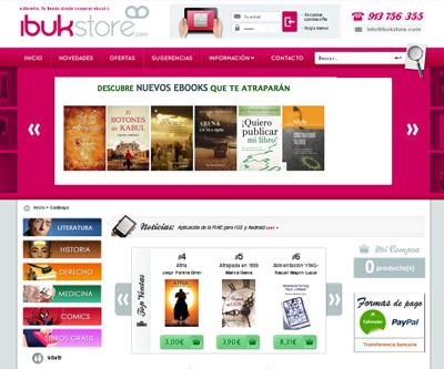 Comprar ebooks pdf y epub en ibukstore e-librería