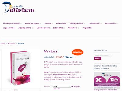 Tienda online Sex Shop Delirium Málaga