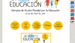 Captura Microsite Campaña Mundial por la Educación 2015